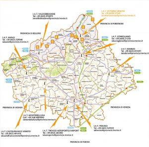 Cartina della Provincia di Treviso - Pro Loco Fregona