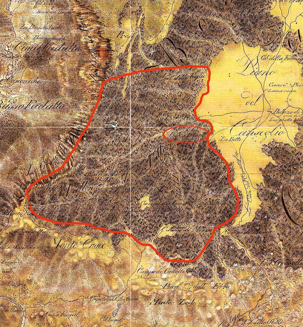 Mappa del Cansiglio del generale barone Anton Von Zach - Pro Loco Fregona