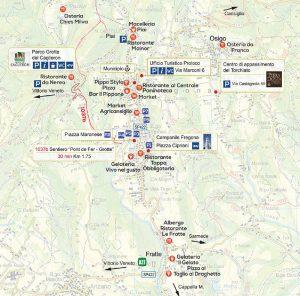 Mappa Parco Grotte del Caglieron - Pro Loco Fregona