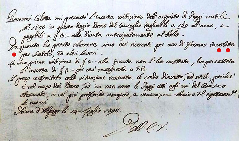 Primo documento Cimbri del Cansiglio - Pro Loco Fregona